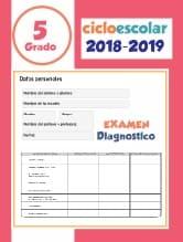 Examen de diagnostico Quinto grado 2018-2019